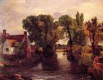 john constable mill stream painting