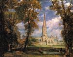 john constable salisbury cathedral from the bishops grounds paintings