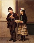 john george brown the flower girl painting 31029