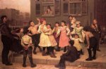 dance oil paintings - the sidewalk dance by john george brown