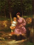 the swing by john george brown painting