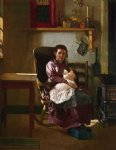 the young mother by john george brown painting
