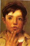 john george brown urchin head of boy painting