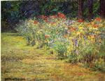 john ottis adams flower border painting 78954