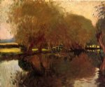 john singer sargent a backwater at calcot near reading painting