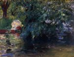 john singer sargent a backwater calcot mill near reading painting
