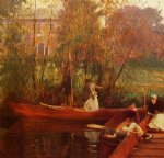 john singer sargent a boating party paintings