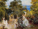 john singer sargent a garden in corfu paintings