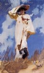 john singer sargent a gust of wind painting