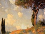 a landscape study at san vigilio lake of garda by john singer sargent painting