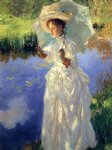 a morning walk by john singer sargent painting