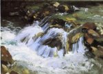 a mountain stream tyrol by john singer sargent painting