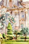 a palace and gardens spain by john singer sargent painting