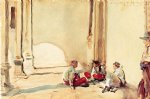 john singer sargent a spanish barracks painting