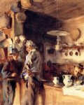 a spanish interior by john singer sargent painting