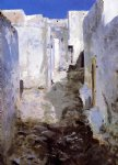 a street in algiers by john singer sargent painting