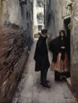 a street in venice by john singer sargent painting