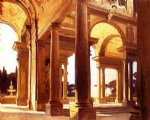 a study of architecture florence by john singer sargent painting