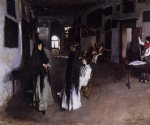a venetian interior by john singer sargent painting