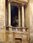 a window in the vatican by john singer sargent painting