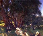 albanian olive gatherers by john singer sargent painting
