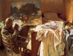 an artist in his studio by john singer sargent painting