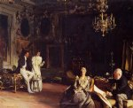 an interior in venice by john singer sargent painting