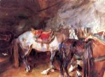 arab stable by john singer sargent painting