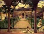 at torre galli ladies in a garden by john singer sargent painting