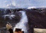 atlantic storm by john singer sargent painting