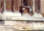 base of a palace ii by john singer sargent painting