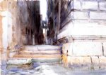 base of a palace by john singer sargent painting