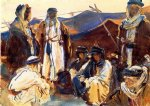 bedouin camp by john singer sargent painting