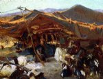 bedouin encampment by john singer sargent painting