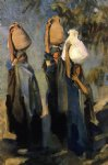 bedouin women carrying water jars by john singer sargent painting