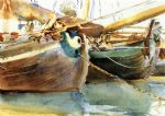 boats venice by john singer sargent paintings-77691