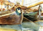boats venice by john singer sargent painting