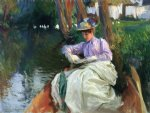 by the river ii by john singer sargent painting