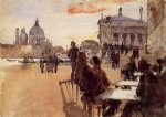 cafe on the riva degli schiavoni by john singer sargent painting