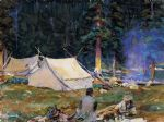 camping at lake o hara by john singer sargent paintings-77888