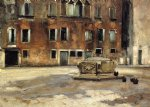 campo san agnese venise by john singer sargent painting