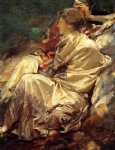 cashmere shawl by john singer sargent painting