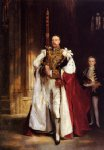 charles stewart sixth marquess of londonderry carrying the great sword of state at the coronation by john singer sargent painting