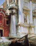 church of st. stae venice by john singer sargent painting