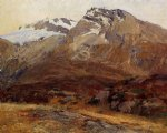coming down from mont blanc by john singer sargent painting