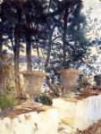 corfu the terrace by john singer sargent painting