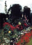 corner of a garden by john singer sargent painting