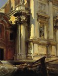 corner of the church of st. stae venice by john singer sargent painting