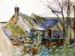 cottage at fairford gloucestershire by john singer sargent painting