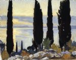 cypress trees at san vigilio by john singer sargent paintings-78336